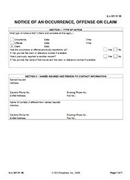 claim notice form